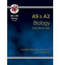 AS/A2 Level Biology AQA Complete Revision & Practice by CGP Books New