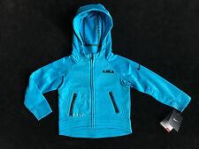 NIKE Lebron Blue Lagoon Therma Fit Zip Hoodie Sweatshirt Jacket Boys 2T *NEW*