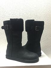 UGG WILOWE BLACK LEATHER RIDER BOOTS US 7 / EU 38 / UK 5.5 - NEW
