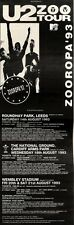 "6/2/93PGN43 U2 ZOO TV TOUR DATES ADVERT 15X5"" ZOOROPA 93"