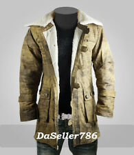 Dark knight Rises Bane Genuine Leather Buffing Brown Trench Coat/Jacket