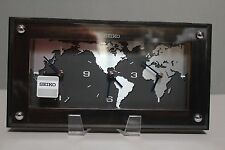 RARE New in Box Seiko QXG121BLH Hunter Table, Shelf, Desk World Time Zone Clock