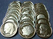 """""""NEW""""  COMPLETE 45 YEAR PROOF RUN 1965-SMS TO  2009-S DEEP CAMEO ROOSEVELT DIMES"""