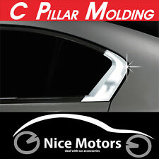 C Pillar Chrome Molding Cover 2Pcs 1Set (Fit: Honda Civic 2012 2013 2014+)