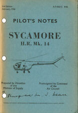 PILOT'S NOTES: SYCAMORE HR14 MULTIROLE HELICOPTER 60pps+FREE 2-10 PAGE INFO PACK