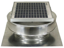 Round Back Vent Solar Fan 8 In Roof Ventilator 5W 12V 365CFM Active Ventilation