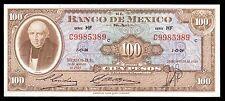 El Banco de Mexico 100 Pesos 20.08.1958 Serie HF. P-55g XF