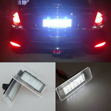 2x white LED License number Plate Light For Hyundai Elantra 11-13 I30 Kia Forte