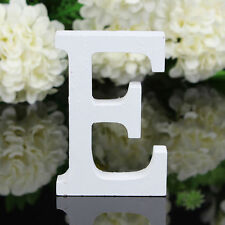 E Wood Wooden Letter White Alphabet Freestanding Art Home Wedding Party Decor 01