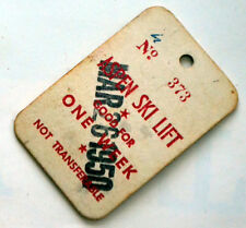 Old Used Aspen Colorado Ski Lift Ticket for March 5 1950