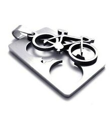 Bicycle Pendant Marathon Chain Fashion Stainless Metal Necklace