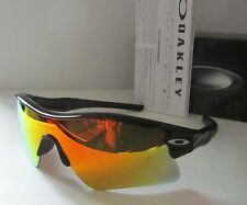 OAKLEY polished black/fire iridium MPH RADAR RANGE OO9056 sunglasses NEW IN BOX