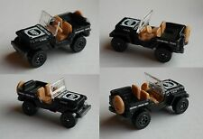 "Matchbox - Jeep Willys mattschwarz ""MP Military Police"""