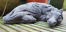 Sleeping Dragon Garden Ornament Stone Mythical/Far Eastern/Welsh