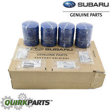 NEW 11-17 Subaru Pack 4 Engine Oil Filter and Gasket Impreza WRX OEM 15208AA15A