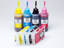 Refillable ink cartridge Kit for epson workforce wf-7510 wf-7520 wf-7010 126 NEW