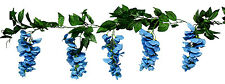 Wisteria Garland TURQUOISE BLUE TEAL AQUA Silk Wedding Flowers Arch Gazebo Decor