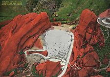 NATURAL AMPHITHEATRE PARK OF THE RED ROCKS DENVER,CO-JUMBO POSTCARD 7X10""