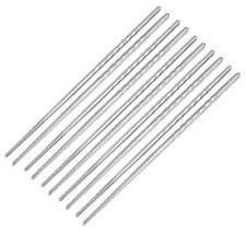Stainless Steel Twist Design Chopsticks 5 Pairs Silver Tone [Kitchen]