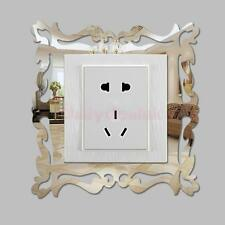 4pcs Mirror Flower vine Light Lamp Switch Wall Art Decal Sticker Mural Decor