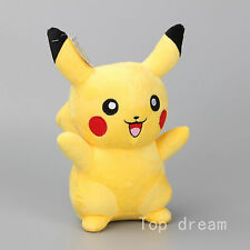 8'' Japanese Anime POKEMON Pikachu Soft Plush Doll Toy Laughing Teddy Xmas Gift