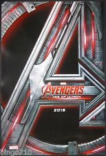 AVENGERS AGE OF ULTRON 2015 ORIGINAL 1 SHEET POSTER TEASER HULK IRON MAN MARVEL