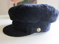 Sterkowski Warszawa Black Corduroy John Lennon Breton Hat Size 6 7/8