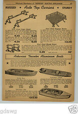 1948 PAPER AD Arkansas Traveler Aluminum Fishing Boat