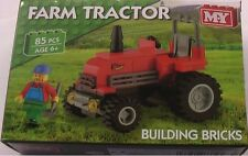 Toy Building Bricks RED Farm Tractor 85 pieces