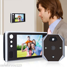 "3.5"" LCD Digital Doorbell Door Eye Peephole Viewer 120°lens Video Color Cameras"