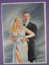 Peter Cushing & Veronica Carlson Frankenkenstein ... Walt Howarth Signed Print