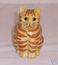 "QUAIL Red Tabby Cat - 6"" tall - Humbug"
