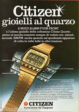 Pubblicità Advertising 1980 CITIZEN Multi Alarm Four Front