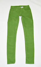 Green Organic Cotton MONKEE GENES Slim Skinny Long Trousers Jeans Size 10 L31""