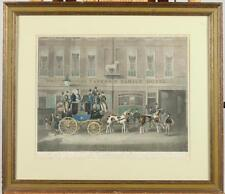 FRAMED ENGLISH COACHING ENGRAVING, 19th Century, After James Pollard... Lot 940A
