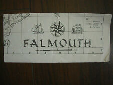 VINTAGE 1975 FALMOUTH HOLIDAY TOURIST BROCHURE STREET PLAN   02