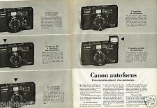 Publicité advertising 1981 (2 pages) Les appareils photo Canon Autofocus