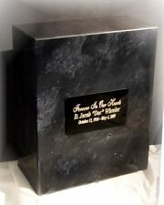 Genuine Marble Oversized Single or Double Cremation Urn + Free Engraving