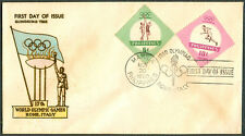 1960 Philippines HONORING THE 17th WORLD OLYMPIC GAMES Rome, Italy FDC