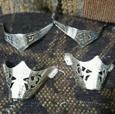 Vintage western cowboy sterling silver plated boot tips and heel guards