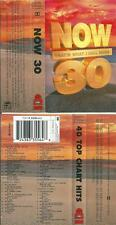 NOW THAT'S WHAT I CALL MUSIC 30 (NOW 30) - DOUBLE CASSETTE TAPE ALBUM