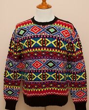 NEW Polo Ralph Lauren Wool Fair Isle Winter Hand Knit Sweater L