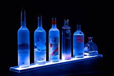Armana Acrylic NEW 2 ft Wall Mount LED Lighted Liquor Display Shelf