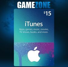 $15 USD iTunes GIFT CARD USA Apple iTunes VOUCHER CODICE 15 dollari-Stati Uniti