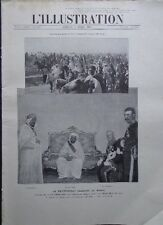 L'ILLUSTRATION 3606 DU 6/4/1912 MOULAI-HAFID TRAITE DE FEZ  POMPEI  MONTE-CARLO