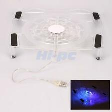 "Notebook USB One Big Fan Blue LED Cooling Cooler Pad Stand for 15"" Laptop PC"