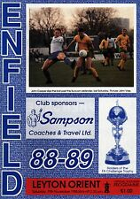 1988/89 Enfield v Leyton Orient, FA Cup, PERFECT CONDITION