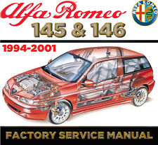 Alfa Romeo 145 146 1994 - 2001 Factory Repair SERVICE MANUAL WORKSHOP FSM