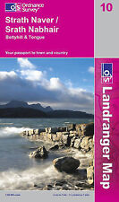 Strathnaver, Bettyhill and Tongue - OS Landranger 10(NEW folded sheet map, 2009)