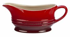 Stoneware Gravy Sauce Boat Jug Microwavable Tabletop 12-Ounce  Durable Cherry